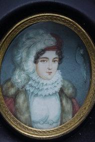19thc Miniature Portrait Paintings on Ivory .