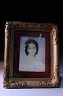 19c Miniature Portrait Paintings on Ivory .