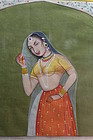 19th c. Indian Miniature Painting,