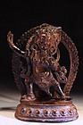 19th c. Nepalese Bronze Figure of a God.
