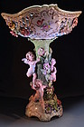 19th c. SUPERB GERMAN PORCELAIN COMPOTE WITH CHERUBS
