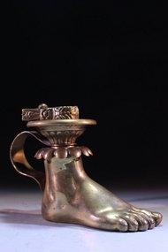 Wonderful Brass Candle Holder, Mid 20th c.