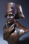 French Tabletop Patina-ted Bronzes of Napoleon,