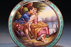 Antique Austrian Sterling Silver-Enameled Compact