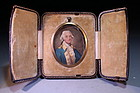 Incredible  Miniature Portrait of Washington on Ivory