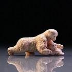 Incredible Japanese Carved Ivory Netsuke.