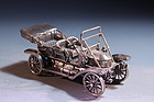 RARE FRANKLIN MINT MINIATURE SILVER CAR,