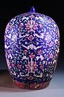 Wonderful Chinese Enameled Porcelain Jar,