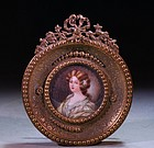 French Portrait Miniature of a Young Lady,