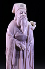 Chinese Carved Ivory Figure of a Sage,