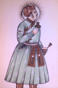 Indian Miniature Painting on Ivory,