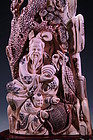 CHINESE  FOSSILMMAMMOTH IVORY CARVING FIGURE ,
