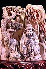 CHINESE FOSSIL MAMMOTH IVORY FIGURAL CARVING,