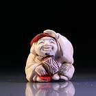 Japanese Carved Ivory Netsuke Figure