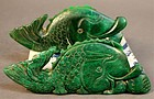 Pair of Large Chinese Jade Decorative Carvings,