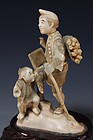 Japanese Carved Ivory Figural Group,