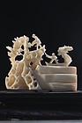 Japanese Carved Ivory Netsuke Figure,
