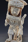 Japanese Carved Ivory Figure, Boy Actor.
