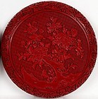 Chinese Red Cinnabar Box With Cover.