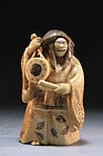 Japanese Carved Ivory Netsuke/Size Figure. Dancer.