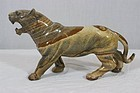 Superb Chinese Jasper Stone Carved Tiger.