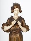 Superb Etienne Watrin. Classical Maiden Bronze.