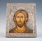 Russian/Greek Silver Portrait Icon.