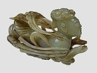 Antique Chinese Carved Jade Celestial Deity.