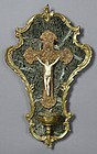 Outstanding French Marble and Bronze Holy Water Font.