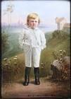 Fine German Miniature Portrait on Porcelain, Ca 1900.