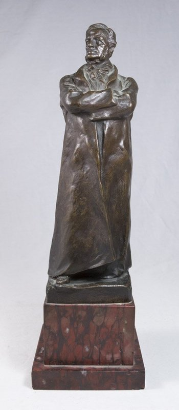 H. Muller, Bronze Sculpture of a Gentleman.