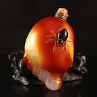 Beautiful Color Chinese Natural Agate Snuff Bottle.