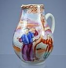 Chinese Mandarin Enameled Porcelain Milk Beaker, 1780'S