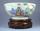 18th C. Chinese Mandarin Enameled Porcelain Bowl.