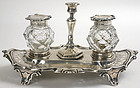 Sterling silver inkstand, Victorian, Henry Wilkinson