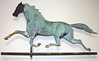 Antique Ethan Allen running horse copper weathervane