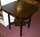 L & JG Stickley square oak lamp table, Arts and Crafts