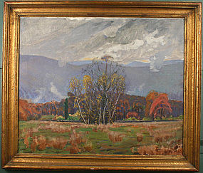 Kenneth Frazier painting, Autumn, Garrison, New York