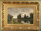 Claude Francois Auguste de Mesgrigny landscape painting