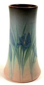 Rookwood Pottery vellum glaze vase with iris