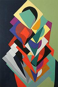 Jacques Villon screen print, Petite Peinture Cubist
