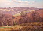 Bernard Corey painting - November Hills