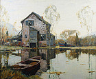 Anthony Thieme painting - Spring in Connecticut