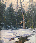 Emile Gruppe winter painting - Afternoon Light and Snow