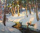 Thomas R. Curtin painting - Winter Sunshine, Vermont