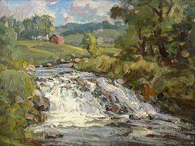 Thomas R. Curtin painting - Rushing Stream