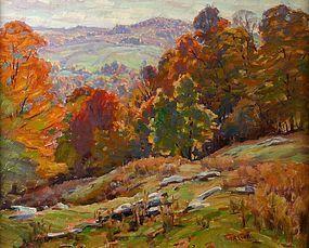 Thomas R. Curtin painting - Autumn Valley