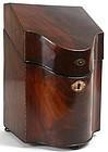 Georgian mahogany knife stationery box, English
