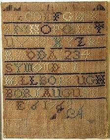 Hillsborough New Hampshire sampler, 18th century