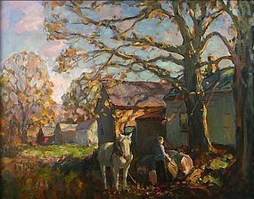 Thomas R. Curtin painting - The White Horse